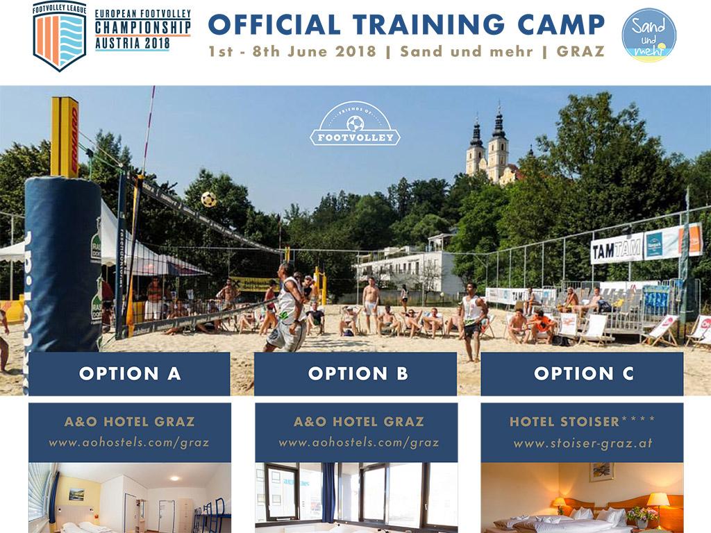 European Footvolley Championship Austria 2018 - Official Training Camp