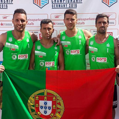 Portugal won the silver medal in the 1st European Footvolley Championship