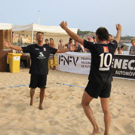 Second stage of the National Footvolley Championship 2015 in Ferragudo, Lagoa