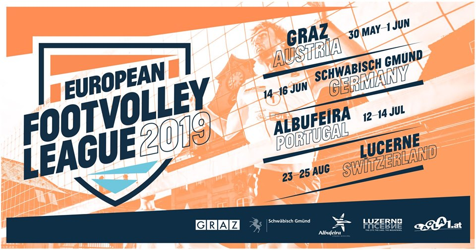 Footvolley League 2019 - Graz, Austria - Bruno and Marco Flores are the representatives of Portugal