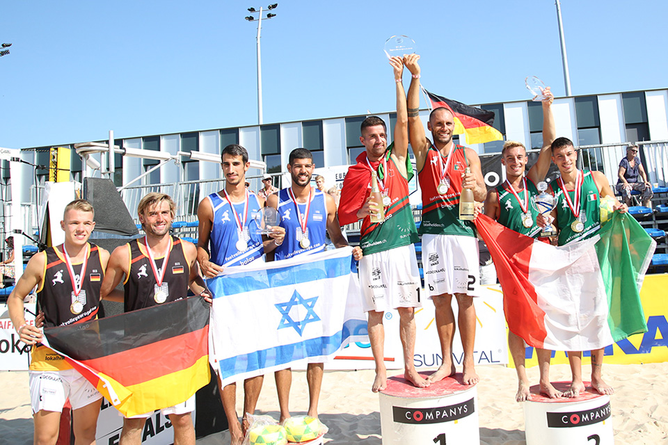 Portugal is a European footvolley champion! Filipe Santos and Miguel Pinheiro were the big winners!