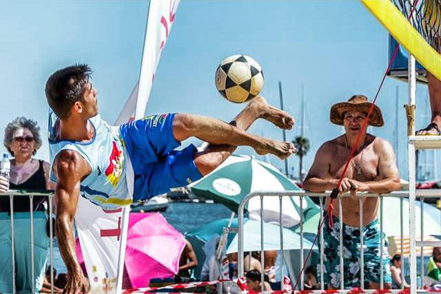 Portugal represented in the International Footvolley Tournament 2016 - Netherlands