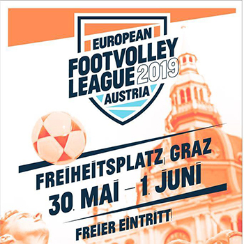 European Footvolley League Tour 2019 - Graz, Austria - Espanha vence a 1ª etapa